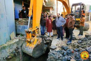 গফরগাঁও পৌরসভার অসম্পূর্ণ কাজ দ্রুতগতিতে এগিয়ে চলছে